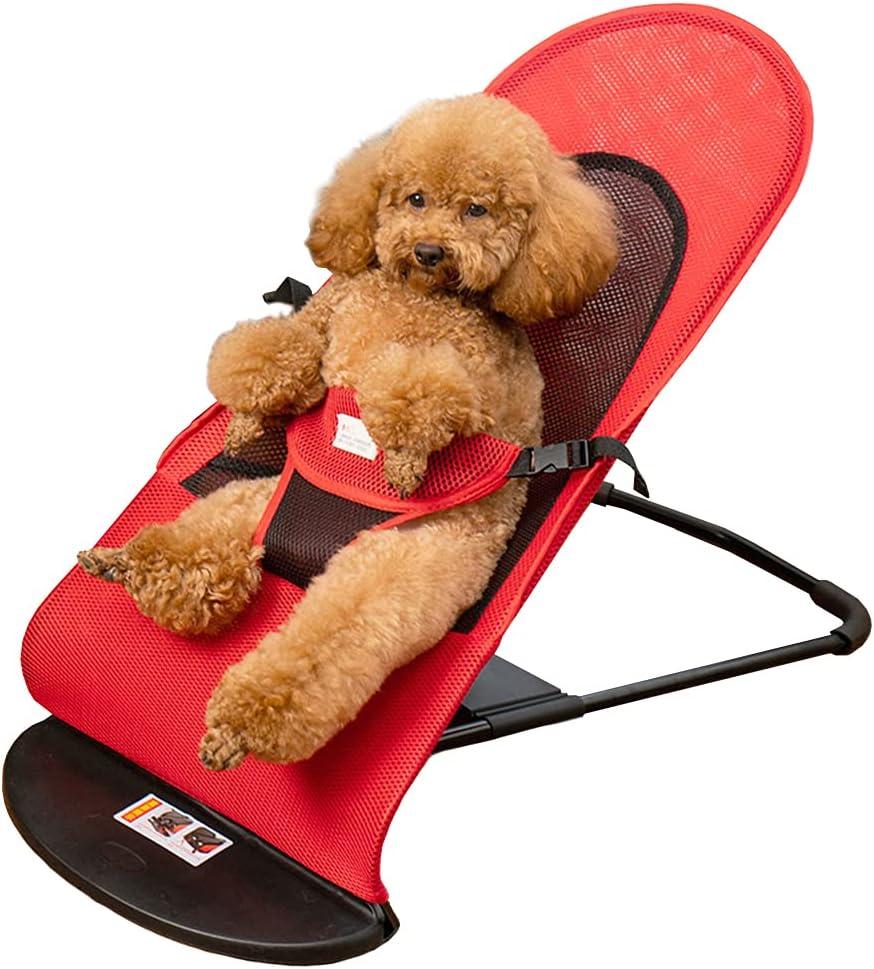 Vinkyster Pet Finally popular brand Long Beach Mall Rocking Bed Chair Small Dog Portable Puppy Medium