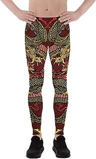 Dragon Leggings for Men Printed Oriental Chinese Dragons Spats BJJ Workout Pants Meggings