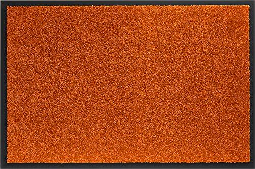 ID MAT 406016 Mirande - Tappeto-zerbino in Fibra di Nylon, PVC e Gomma, 60x 40x 0,9cm, Colore: Arancione