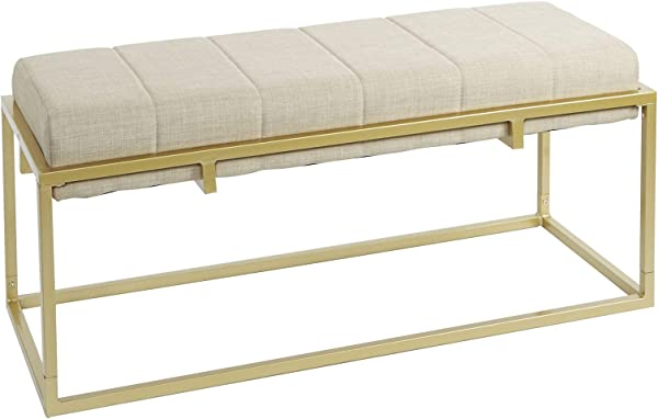 Silverwood CPFH1024 Upholstered Bench Dorado Gold