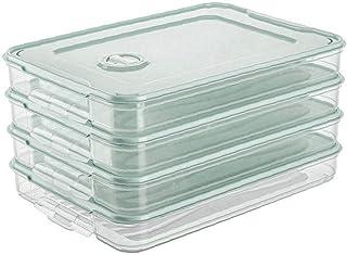 NaiCasy Porte-réfrigérateur Alimentaire Boulette Boîte de Rangement Case Alimentaire Organisateur Plateau Container Simple...