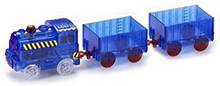 Ontopon Magic Train Car for Magic Bends Track Set Modular and Brilliant in The Dark (Blue, with 2 Compartment)
