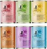 catz finefood Feinkost Katzenfutter nass Multipack 1, Sorten Mix-Paket 1 mit Geflügel, Kalb, Hering, Wild, Lachs, Lamm, Kaninchen, 6 x 400 g Dosen