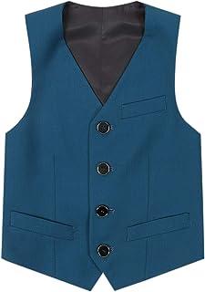 De feuilles Vest Suit Sans Manches Bébé Garçon Costume Vêtement Soirée Gilet Manteau avec Bouton Casual Doux Mariage