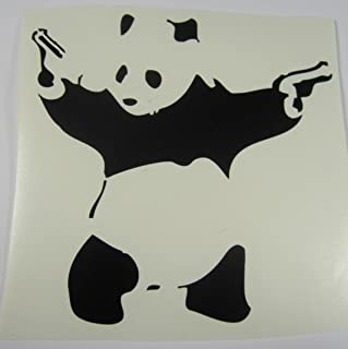 Banksy Guns blazing Panda vinyl decal sticker