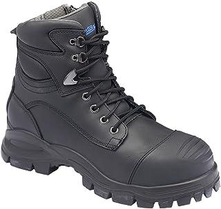 Blundstone 997 Work Boots, Black, Zip Sided, Steel Toe Safety, 150mm.