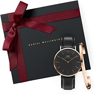 Daniel Wellington Women's Quartz Watch analog Display and Leather Strap, DW00500017
