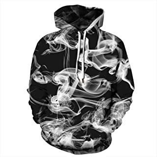 NEWCOSPLAY Unisex Novelty Hooded Sweatshirts 3D Printed Hoodies Colorful Galaxy Pattern