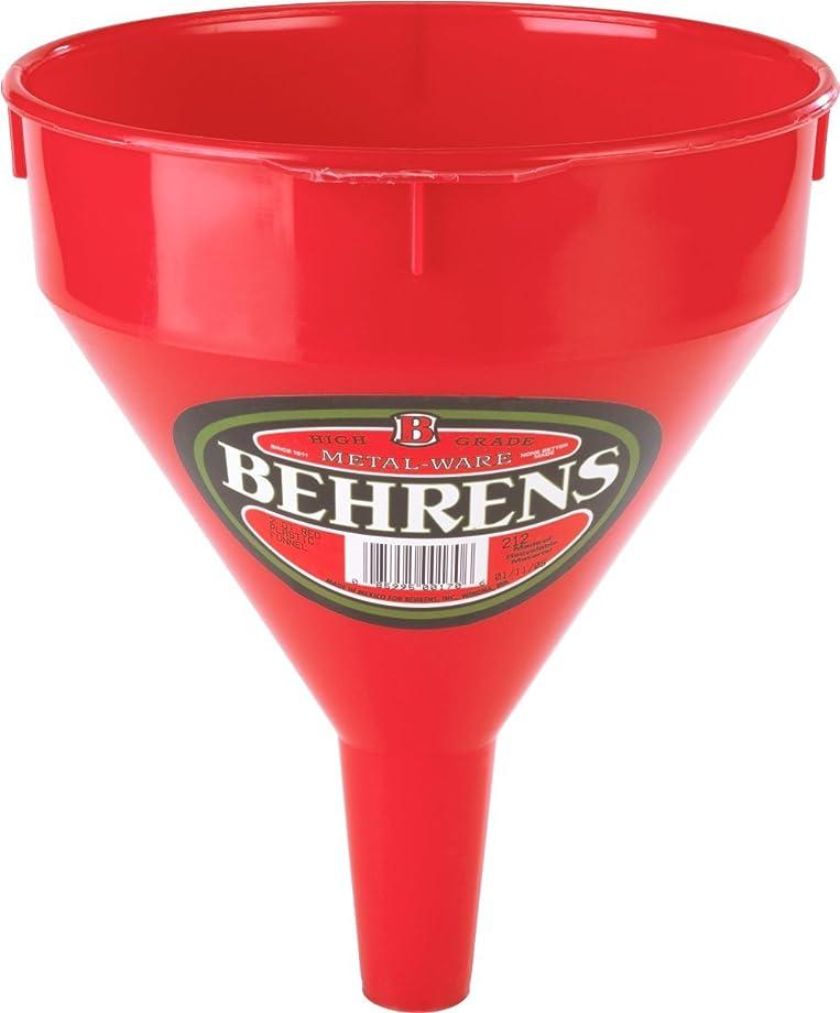 Behrens 212 2-Quart Red Plastic Funnel