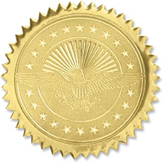 American Eagle Embossed Gold Certificate Seals, 102 Pack