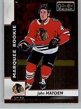 2017-18 Upper Deck O-Pee-Chee Platinum Hockey #189 John Hayden RC Blackhawks