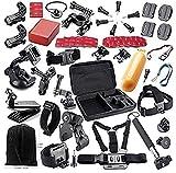Theoutlettablet Super pack 44 en 1 accesorios para Vídeo Cámara Accesorio para GoPro Hero 4 3+ 3 2 1, - Vtin Eypro 1 Kit de Accesorios para SJ4000 SJ5000 SJ6000, accesorios de la cámara de acción para Xiaomi Yi / Jeemak 4k en Paracaidismo Natación Remo Surf Esquí Escalada Correr Montar en bicicleta acampar - buceo