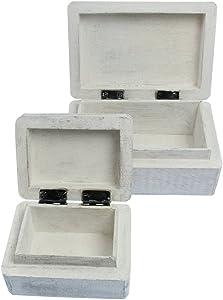 Holzbox weiß mit Katzen Gravur, 10x7,5x5,5 cm, Truhe, Aufbewahrung