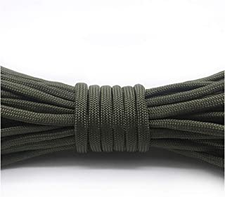 QKKstore Paracord 550 Rope Type Iii 7 Stand 100Ft 50Ft Paracord Parachute Cord Rope Survival Kit DIY Rope