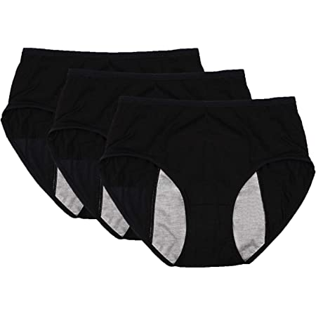 mujeres sangrado postparto paquete de 3 Modal ropa interior menstrual periodo a prueba de fugas bragas para ni/ñas flujo pesado