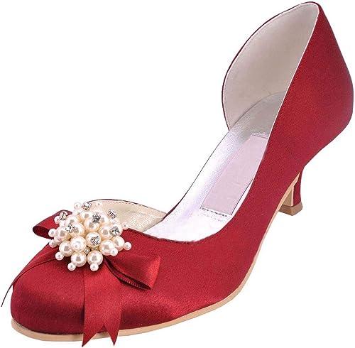 Farbe Schuhe Pumps Prom Abend Hochzeit Satin Heel Kitten
