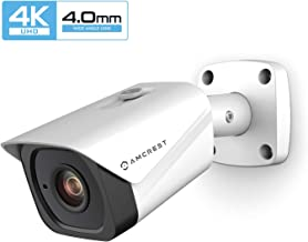 Amcrest UltraHD 4K (8MP) Outdoor Bullet POE IP Camera, 3840x2160, 131ft NightVision, 4.0mm Narrower Angle Lens, IP67 Weatherproof, Wide 88° Viewing Angle, MicroSD Recording, White (IP8M-2496EW-40MM)