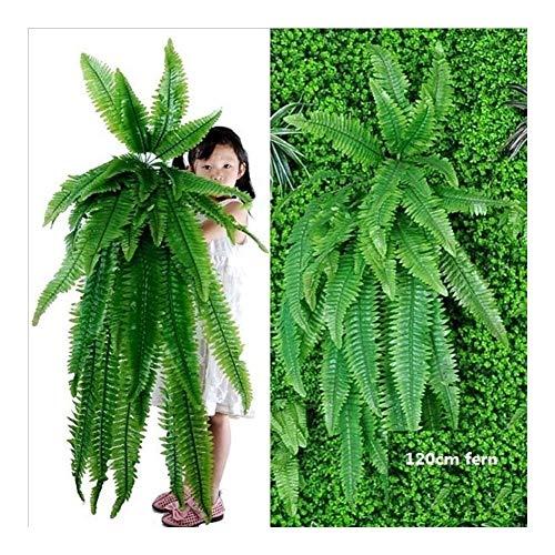 Montague Mond0 Plantas Colgantes Artificiales Vegetación Que Se Cierne Plantas De Helecho Hierba Verde Pared Planta Plantas Artificiales De Seda De Cobertura Grandes (Color : 120CM)