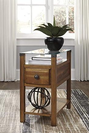 Signature Design by Ashley T217-630 Diamenton Chairside End Table Medium Brown