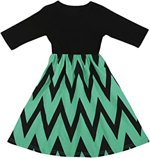 Lemcos 子供 ワンピース 半袖 コットン 子どもドレス 女 可愛い スカート 子供服 女の子用 春衣装 女児