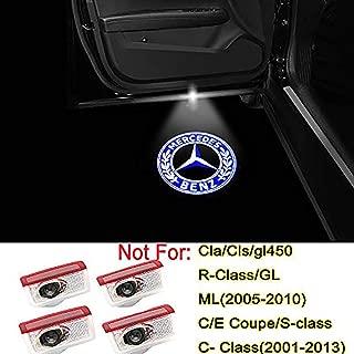 4PCS LED Car Door Logo Light Emblem Projector Ghost Shadow Welcome Light for Mercedes Benz C-W205 E Class W212 W213 X253 A-W176 W177 Accessories