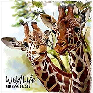 5D Diamond Painting Kit, DIY Embroidery Paint with Diamonds Wall Sticker for Wall Decor - Giraffe 12 x 12inch