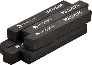 Heritage Arts HCS-M Compressed Charcoal Sticks, 6-Piece Boxed (Medium)