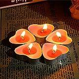Ailiebhaus 50er herzförmige Kerzen, rauchfreie Teelichter, für Geburtstag, Vorschlag,Hochzeit,Party, Rot, Hochzeit Verlobung, Valentinstag (Rosa) - 8