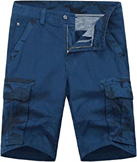 Coolred Mens Short Pants Cotton Multi Pockets Fashion Camo Twill Jogger Pants