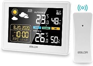Viflykoo Estacion Meteorologica Inalámbrica, Termometros Higrometro Interiores y Exteriores, Monitor de Temperatura con Pa...