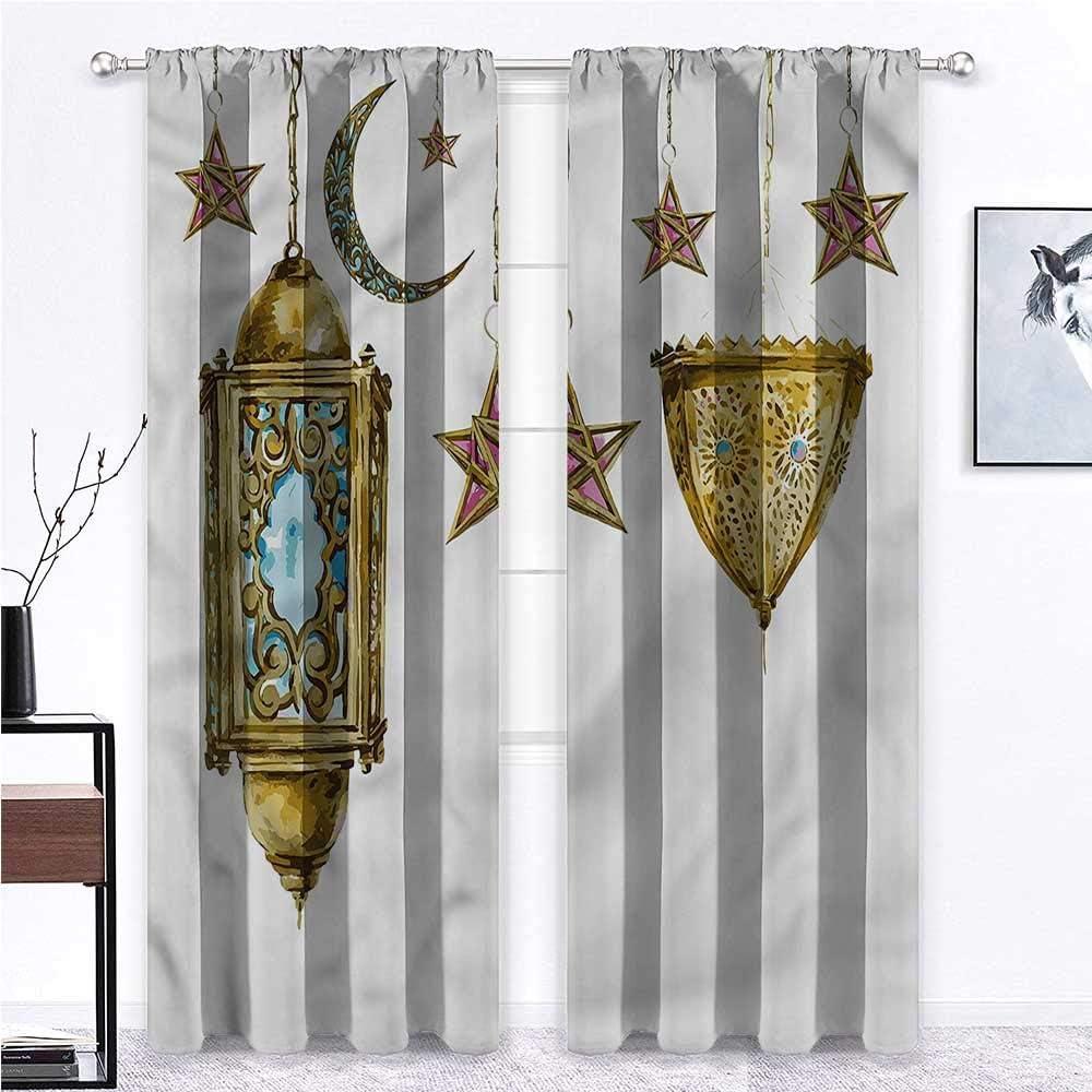人気ブレゼント GugeABC Farmhouse Curtains for Living 高級 2 Room Rod Lantern Pocket