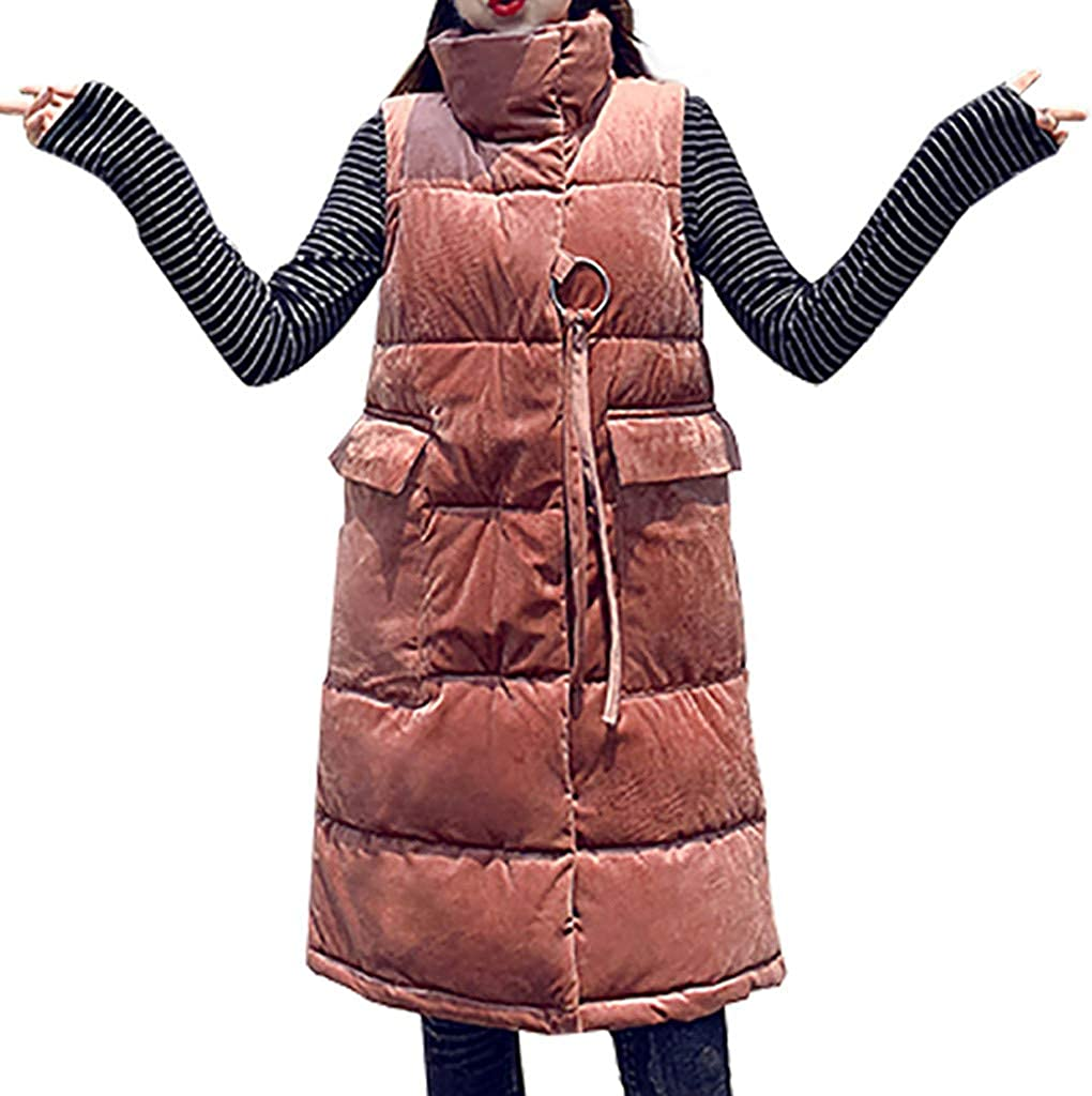 SERYU Women Outwear Warm Vest Coat Furry Thick Long Cotto 引出物 売店 Collar