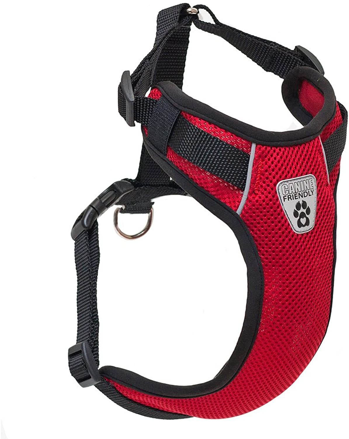 Canine Friendly Vented Vest Harness, Medium, Red