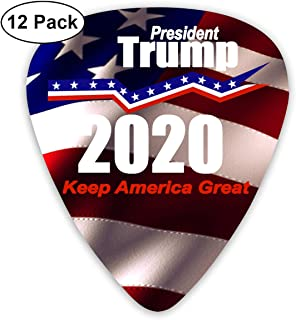 Keep America Great President Trump for 2020 Sampler Guitar Picks - 12 Pack Unique Accessory for Guitar Player Best Gift for Guitarist