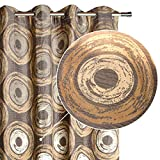 Viste tu hogar Pack 2 Cortina Decorativa Estampada con Tonalidades Cafés, Moderna y Elegante, para Salón o Habitación, 2 Piezas, 150X260 CM, Diseño Vintage