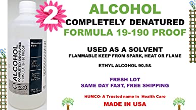 Humco Alcohol Completely Denatured - 16oz, Pack of 2