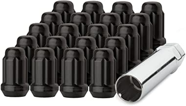 Best DPAccessories D5246P-2308/20 20 Black 12x1.5 Closed End Spline Tuner Lug Nuts for Aftermarket Wheels Wheel Lug Nut Review