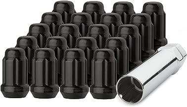DPAccessories D5246P-2308/20 20 Black 12x1.5 Closed End Spline Tuner Lug Nuts for Aftermarket Wheels Wheel Lug Nut