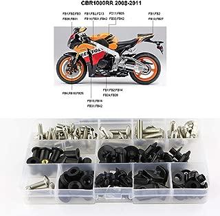 Xitomer Complete Fairing Bolts, for Honda CBR1000RR 2008 2009 2010 2011, Full Set Bodywork Screws/Fastenings/Mounting Kits (Silver)