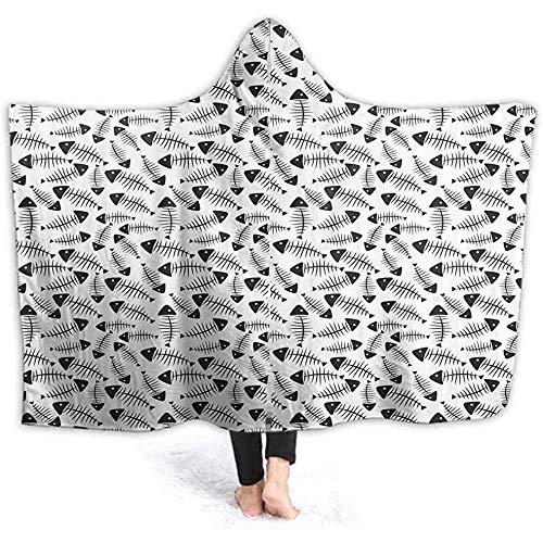 Henry Anthony 40X50 Zoll Übergroße Hoodie Decke Sweatshirt Lustige Fischgräte Abstrakt Super Weiche Warme Pullover