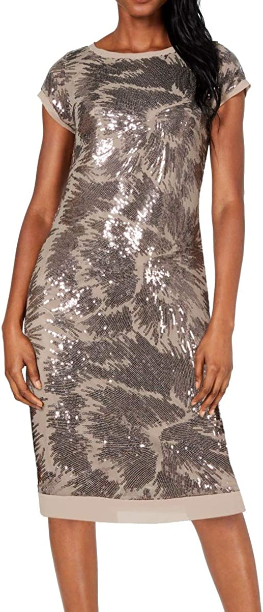 Vince Camuto Women's Cap Sleeve T-Body Dress