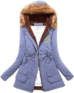 Womens Hooded Parka Jacket Warm Winter Coat Faux Fur Trim …
