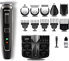 Nova NG 1150 Cordless and Rechargeable Multi Grooming Trimmer for Men Runtime: 60 Mins (Black)