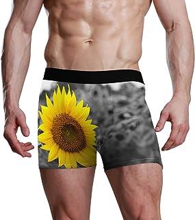 Sunflower Grey Nature Stretch Boxer Trunk Ultra Soft Premium Mens Boxer Briefs Bulge Pouch Underpants for Men Boy Ropa Interior cómoda Lake