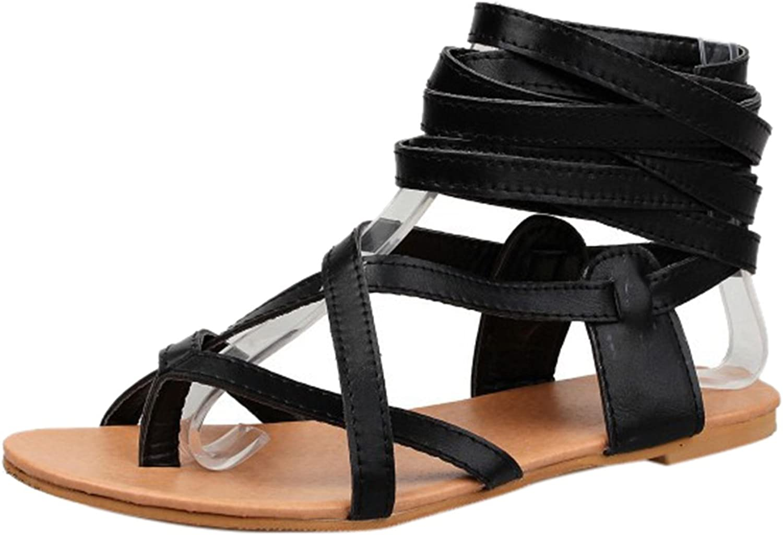 ONCEFIRST Women's Fashion Gladiator Flat Sandal
