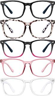 5 Pack Blue Light Blocking Glasses-FEIDU Reading Glasses Computer Eyeglasses Readers for Men Women
