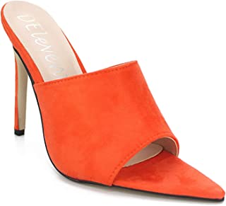 HULKAY Stiletto High Heel Shoes for Women-Ladies Elegant Pointed Closed Toe Classic Slip On Dress Pumps Party Shoes