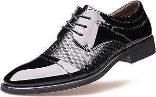 [ジョイジョイ] メンズ ビジネスシューズ ドレスシューズ 革靴 スエード フォーマル カジュアル 黒 ブラウン 茶色 ブラック 軽量 防水 通勤 冠婚葬祭 ウォーキング 歩きやすい 走れる 紳士靴 男 おしゃれ レースアップ ポインテッドトゥ スーツシューズ