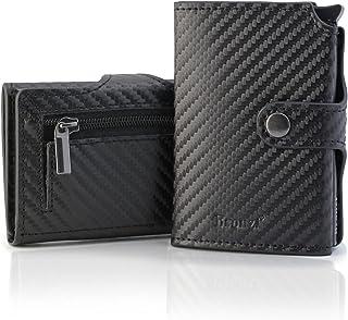 Portafoglio Bronzi® Portafoglio Uomo Slim - In Pelle Nero - Porta Carte Credito - Portacarte uomo - Mini Porta Tessere - P...
