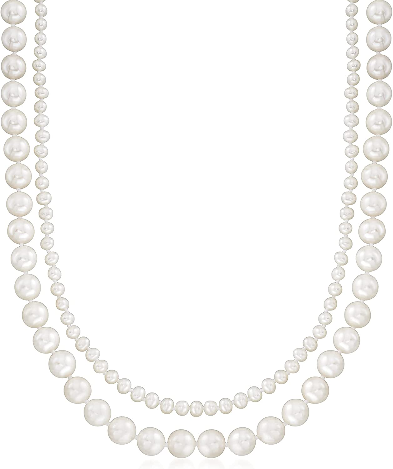 Ross-Simons 3-8mm Cultured Pearl 2-Strand Necklace
